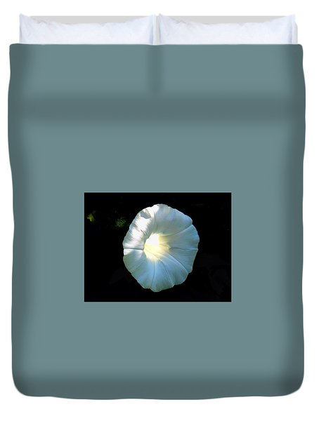 Glowing Morning Glory Duvet Cover