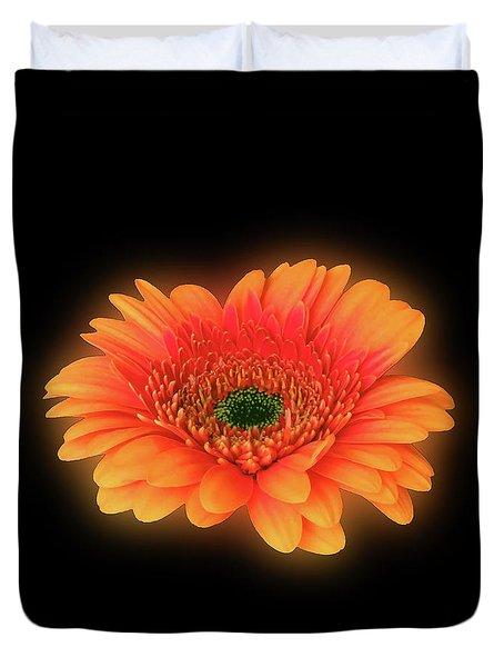 Glowing Orange Gerbera  Duvet Cover