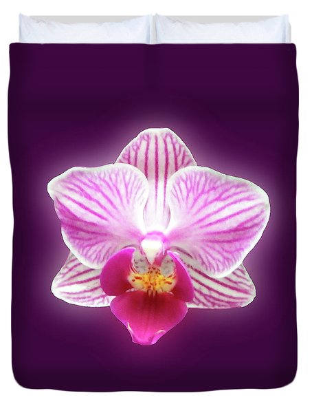 Glowing Orchid Duvet Cover