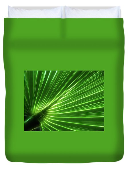 Glowing Palm Duvet Cover