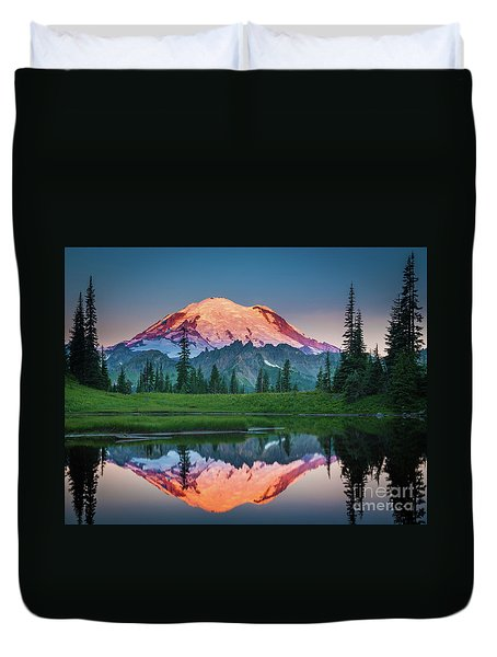 Glowing Peak - August Duvet Cover