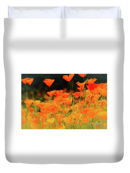 Glowing Poppies Duvet Cover