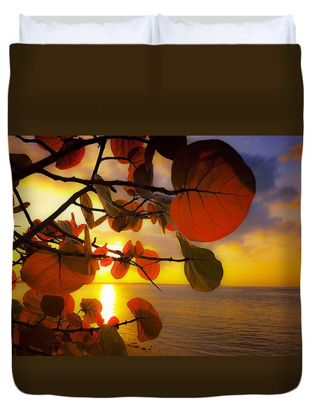 Glowing Red II Duvet Cover