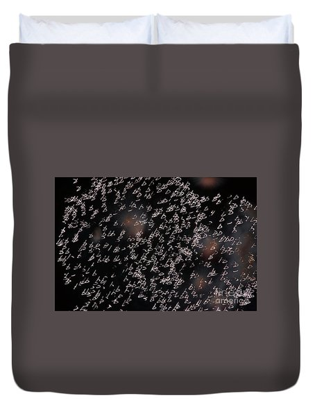 Duvet Cover featuring the photograph Glowing Shapes by Michal Boubin