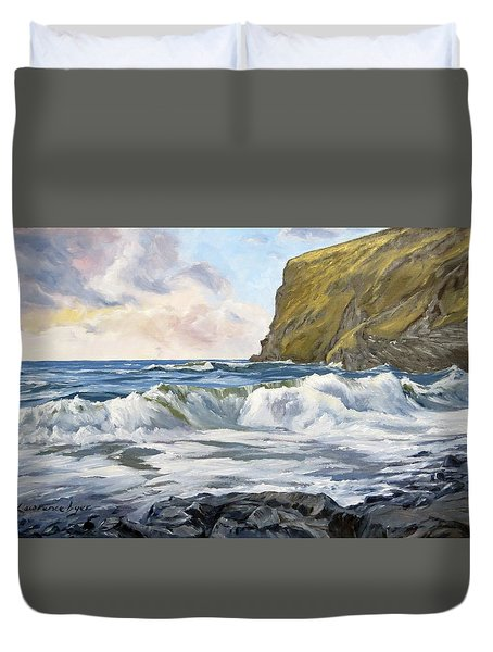 Glowing Sky At Pencannow Point Duvet Cover