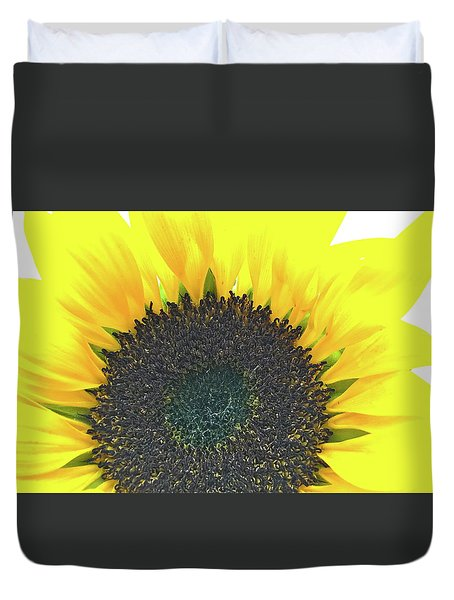 Glowing Sunflower Duvet Cover
