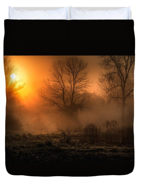 Glowing Sunrise Duvet Cover by Everet Regal
