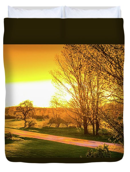 Glowing Sunset Duvet Cover