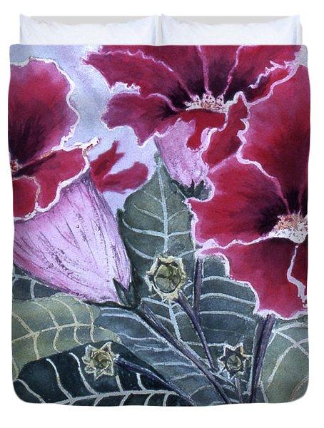 Gloxinias Duvet Cover