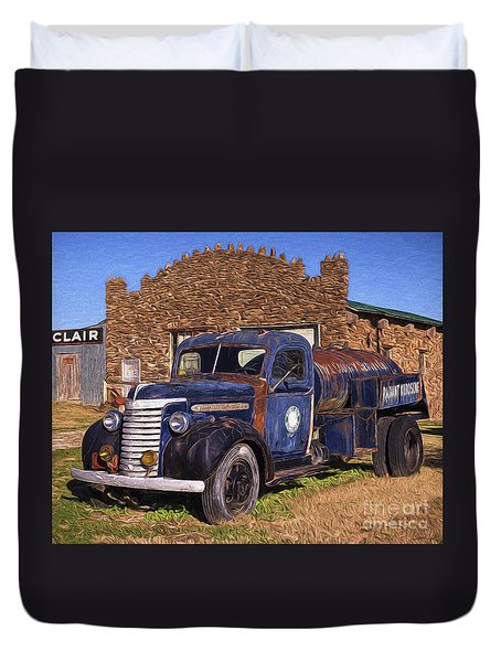 Gmc Tank Truck Duvet Cover