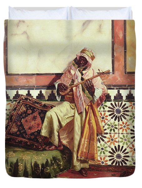 Gnaoua In A North African Interior Duvet Cover