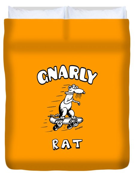 Gnarly Rat Duvet Cover by Kim Gauge
