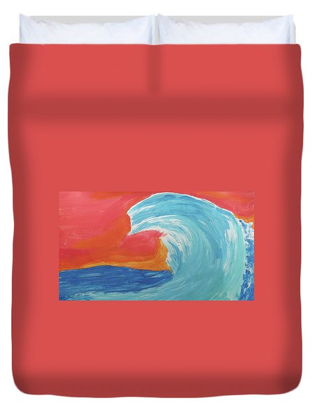 Gnarly Wave  Duvet Cover by Don Koester