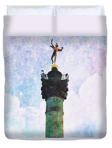 Genie De La Liberte Duvet Cover by Aurella FollowMyFrench