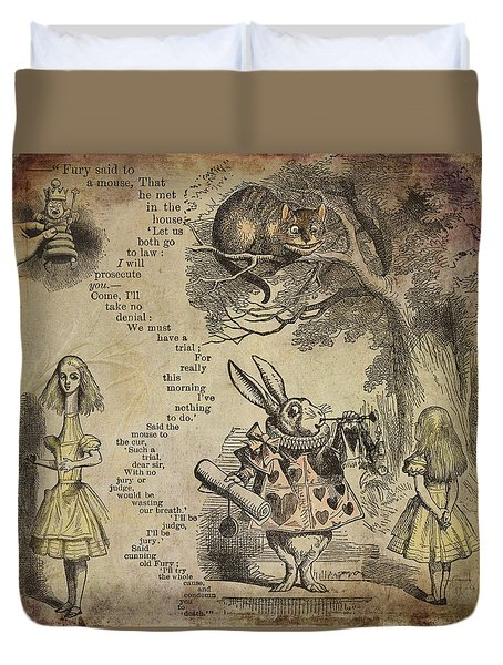 Go Ask Alice Duvet Cover by Diana Boyd