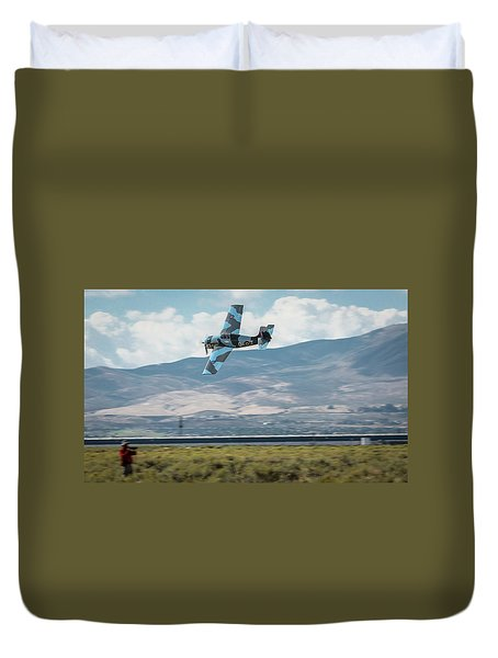 Duvet Cover featuring the photograph Go Fast Turn Left Fly Low Friday Morning Unlimited Bronze Class by John King
