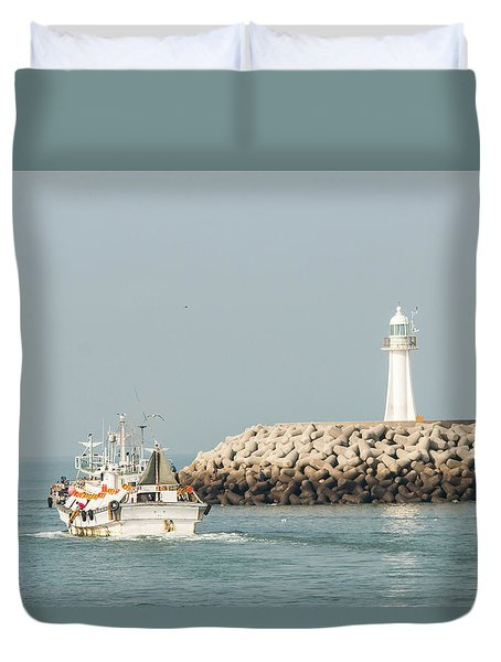 Go Fishing Duvet Cover