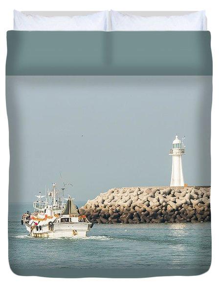 Go Fishing Duvet Cover by Hyuntae Kim