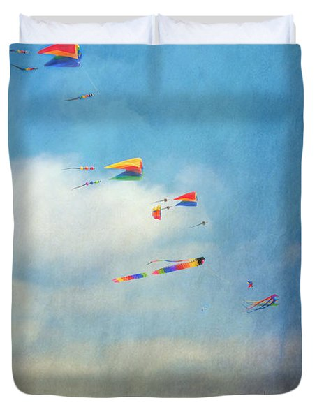 Duvet Cover featuring the photograph Go Fly A Kite by David Zanzinger