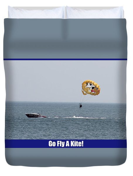 Duvet Cover featuring the photograph Go Fly A Kite by Robert Banach