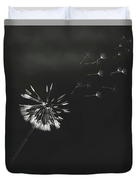 Duvet Cover featuring the photograph Go Forth Bw by Heather Applegate