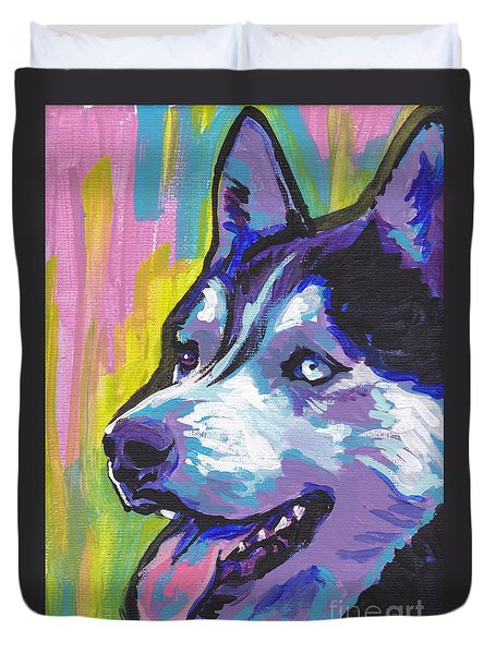 Go Husky Duvet Cover by Lea S