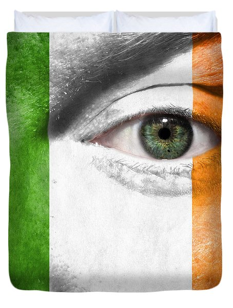 Duvet Cover featuring the photograph Go Ireland by Semmick Photo