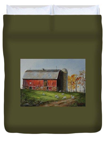 Goat Farm Duvet Cover