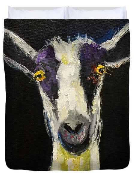 Goat Gloat Duvet Cover