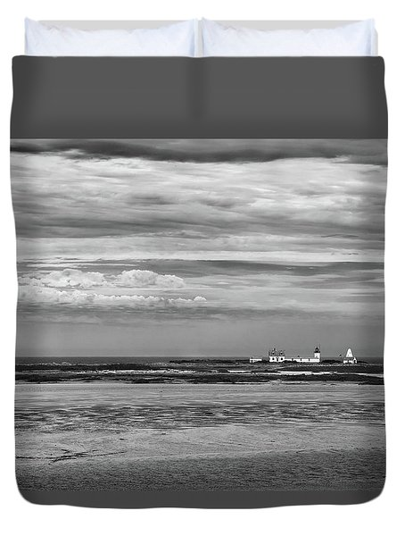 Goat Island Lighthouse Duvet Cover by Denis Lemay