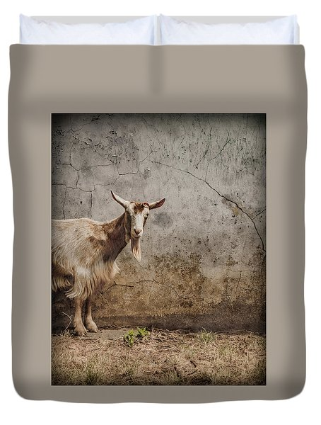 London, England - Goat Duvet Cover