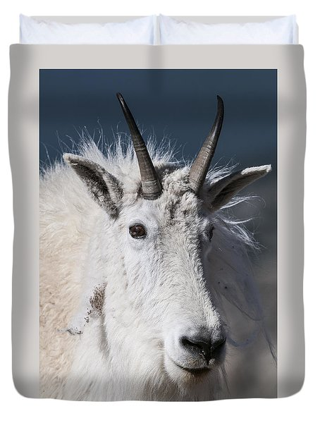 Goat Portrait Duvet Cover