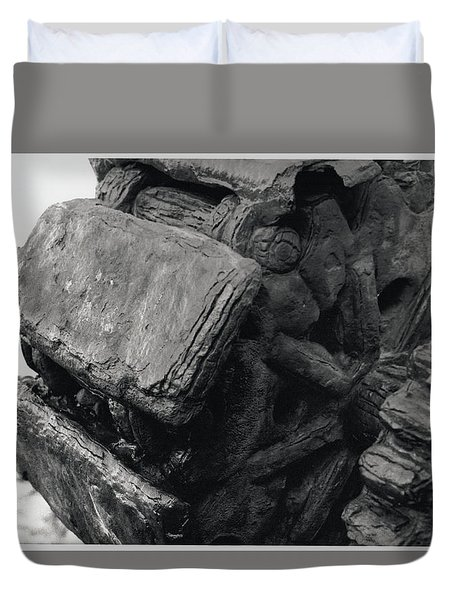 Goat Rock Tractor Tread Jenner California Duvet Cover
