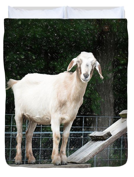 Goat Smile Duvet Cover
