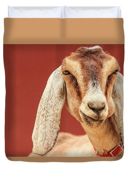 Goat With An Attitude Duvet Cover