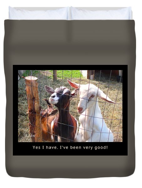 Duvet Cover featuring the photograph Goats Poster by Felipe Adan Lerma