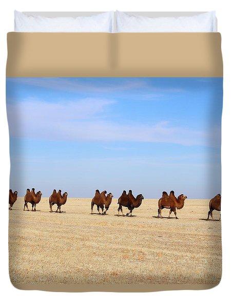 Gobi Camels Duvet Cover