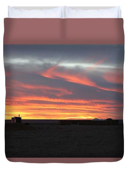 Gobi Sunset Duvet Cover by Diane Height