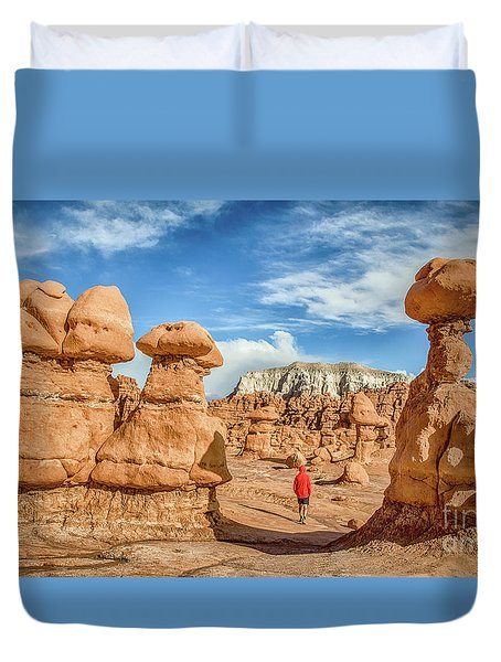 Goblin Valley State Park Duvet Cover by JR Photography
