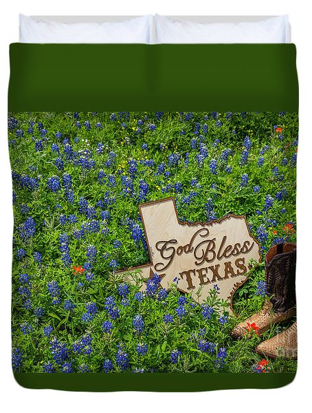 God Bless Texas II Duvet Cover