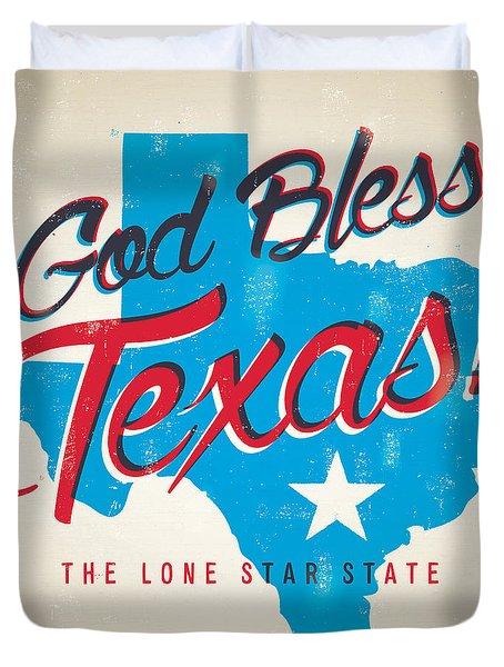 God Bless Texas Duvet Cover