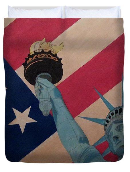 God Bless The Usa Duvet Cover