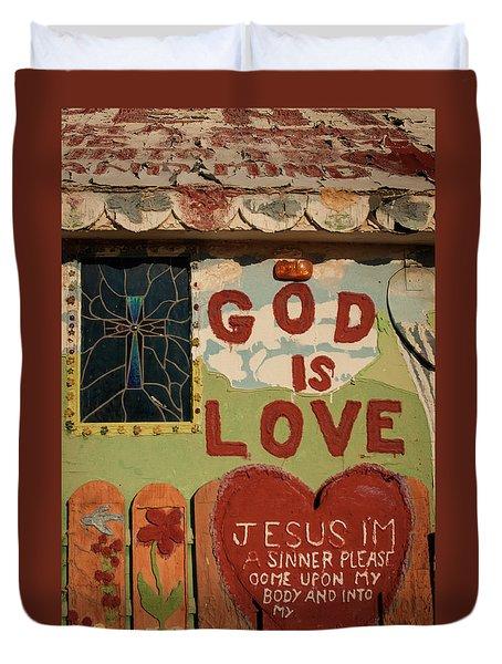 God Is Love Duvet Cover by Ralph Vazquez