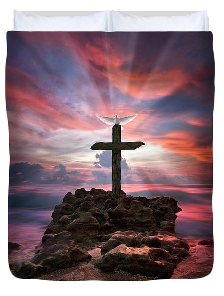 God Is My Rock Special Edition Fine Art Duvet Cover