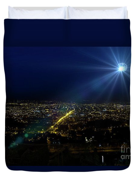 God Loves Cuenca Duvet Cover by Al Bourassa