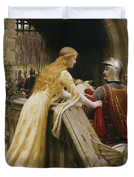 God Speed Duvet Cover by Edmund Blair Leighton