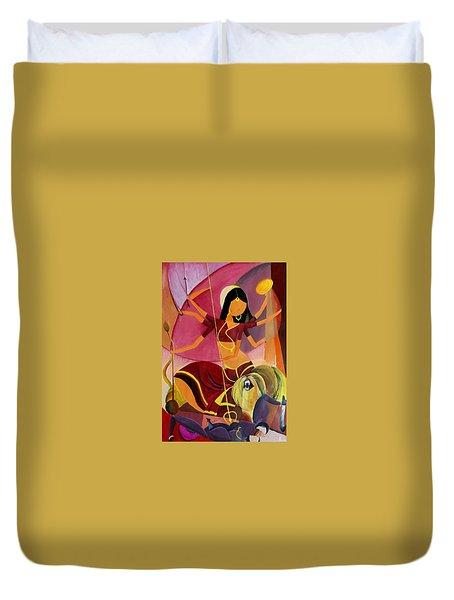 Goddess Durga Duvet Cover by Amrita M