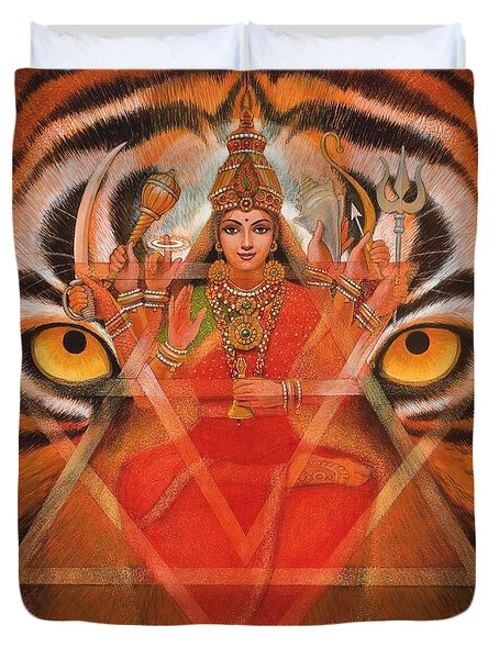 Goddess Durga Duvet Cover