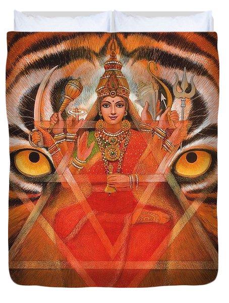 Goddess Durga Duvet Cover