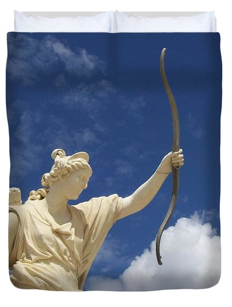 Duvet Cover featuring the photograph Goddess by Mary Mikawoz